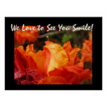 Office Artwork Prints We love to see You Smile! Poster