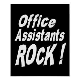 Office Assistants Rock! Poster Print