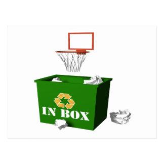 Office Basketball Postcard