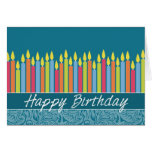 Office Birthday Card with Candles Greeting Card