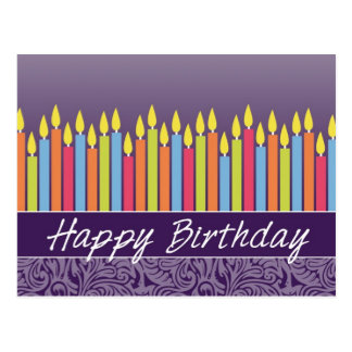 Office Birthday Card with Candles Postcard