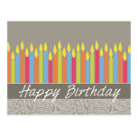 Office Birthday Card with Candles Postcards
