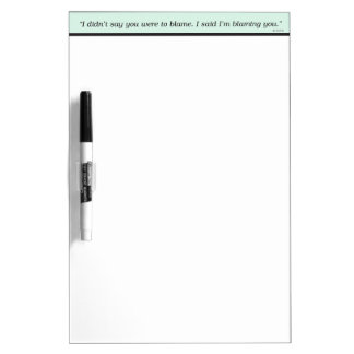 Office Blame Dry-Erase Whiteboards