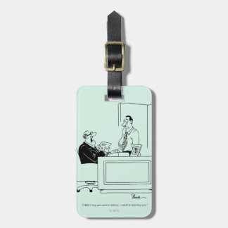 Office Blame Luggage Tag