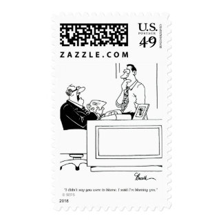 Office Blame Postage Stamp