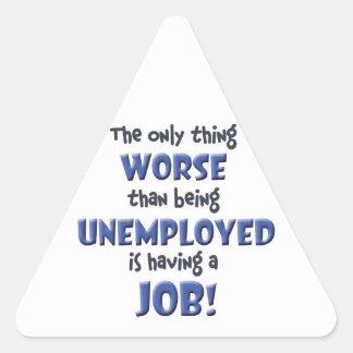 Office Blues Triangle Sticker