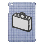 Office Brief or Travel Suitcase Sketch. Blue. iPad Mini Cover