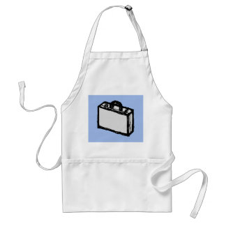 Office Briefcase or Travel Suitcase Sketch. Blue. Adult Apron