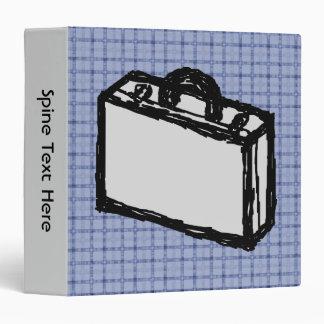 Office Briefcase or Travel Suitcase Sketch. Blue. Binder