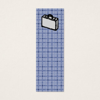 Office Briefcase or Travel Suitcase Sketch. Blue. Mini Business Card