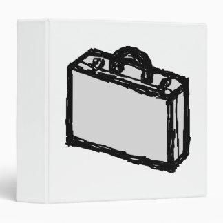 Office Briefcase or Travellers Suitcase. Sketch. 3 Ring Binder