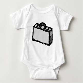 Office Briefcase or Travellers Suitcase. Sketch. Baby Bodysuit