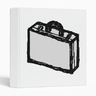 Office Briefcase or Travellers Suitcase. Sketch. Binder