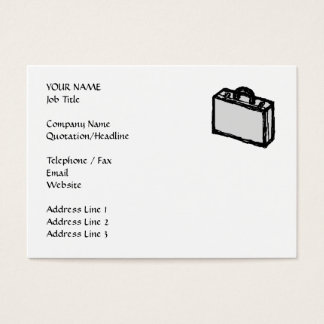 Office Briefcase or Travellers Suitcase. Sketch. Business Card