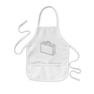 Office Briefcase or Travellers Suitcase. Sketch. Kids' Apron
