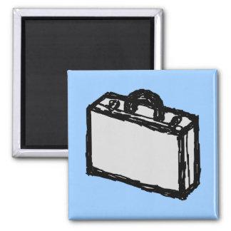 Office Briefcase or Travellers Suitcase. Sketch. Refrigerator Magnet