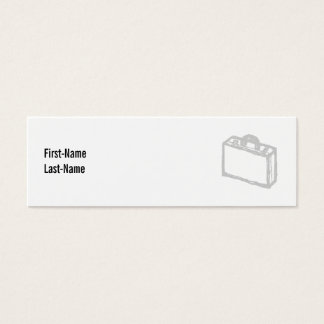 Office Briefcase or Travellers Suitcase. Sketch. Mini Business Card