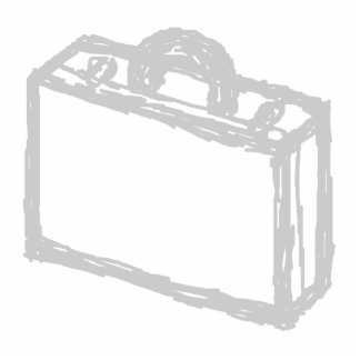 Office Briefcase or Travellers Suitcase. Sketch. Statuette