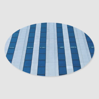 Office building architecture oval sticker