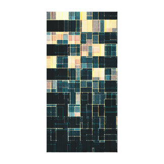 Office Building at Night Stretched Canvas Prints