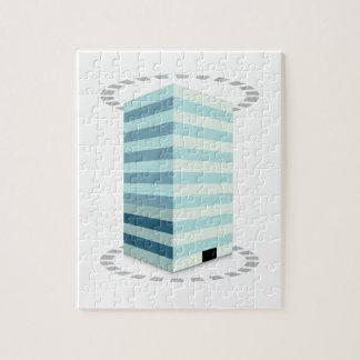 Office Building Skyscraper Icon Jigsaw Puzzles