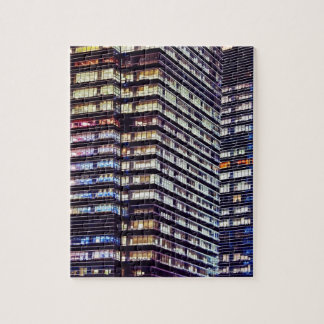 Office buildings at night, Singapore Jigsaw Puzzle