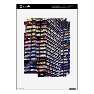 Office buildings at night, Singapore iPad 3 Skins