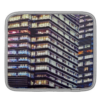 Office buildings at night, Singapore Sleeve For iPads