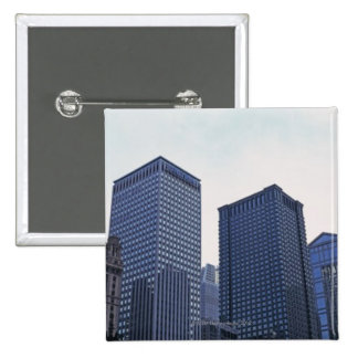 Office buildings in downtown Chicago, Illinois Button