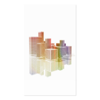 Office buildings in the City Double-Sided Standard Business Cards (Pack Of 100)