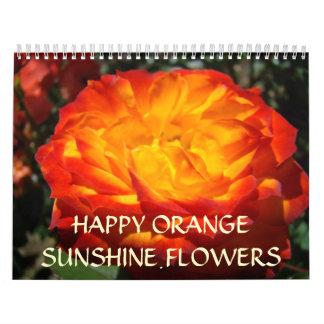 OFFICE CALENDAR GIFTS Happy Orange Sunshine Flower