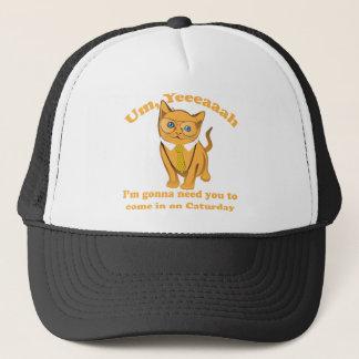 Office Cat Caturday Trucker Hat