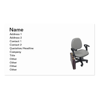 Office Chair and Briefcase Double-Sided Standard Business Cards (Pack Of 100)