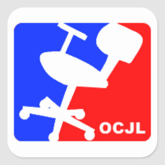 Office Chair Jousting League Square Sticker
