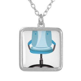 Office Chair Square Pendant Necklace
