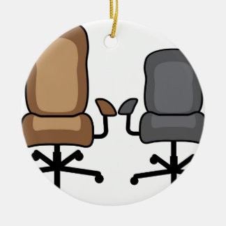 Office Chairs Ceramic Ornament