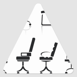 office chairs triangle sticker