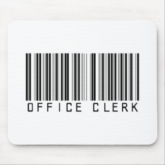 Office Clerk Bar Code Mouse Pad