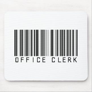 Office Clerk Bar Code Mouse Mat