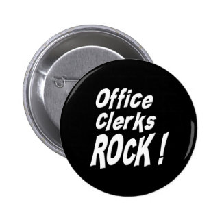 Office Clerks Rock! Button