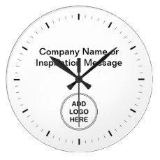 Office Company Logo Clocks