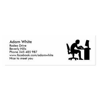 Office computer geek Double-Sided mini business cards (Pack of 20)