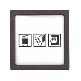 Office copier paper clip coffee machine premium trinket boxes