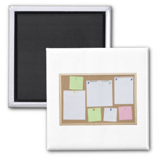 office cork board 2 inch square magnet