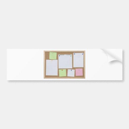 office cork board bumper sticker