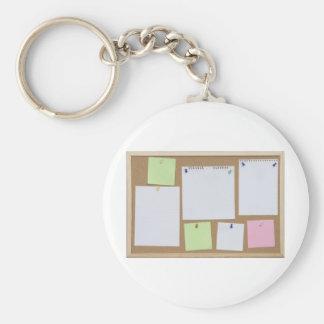 office cork board keychain