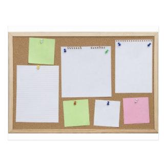 office cork board postcard