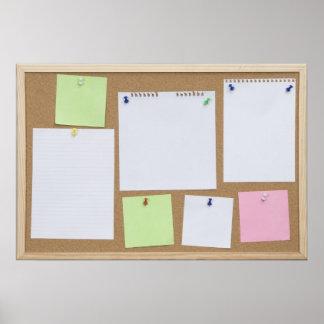 office cork board poster