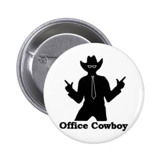 Office Cowboy Pinback Buttons