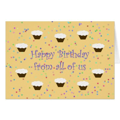 office coworker group birthday card cake  zazzle, Birthday card